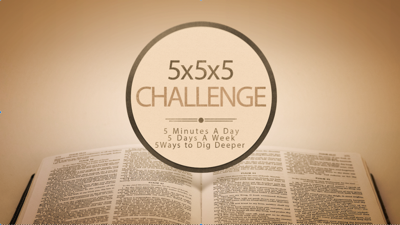 5x5x5 Bible Reading Plan